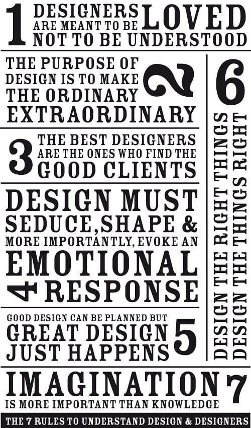 7 Rules Of Life Quote Captivating 7 Rules To Understanding Design & Designers  Advertising Web